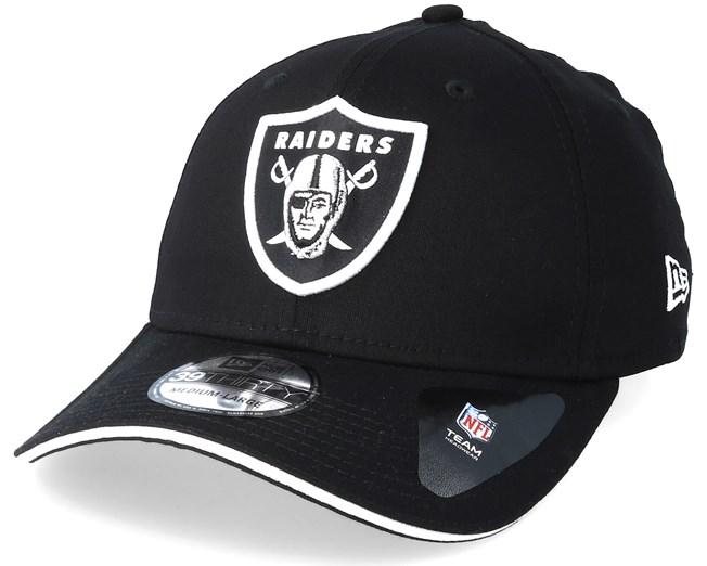 28c9632719cf9 Oakland Raiders Team 39Thirty Black Flexfit - New Era caps -  Hatstoreaustralia.com