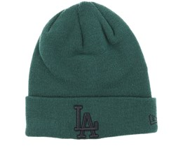 Los Angeles Dodgers League Essential Knit Green/Black Cuff - New Era