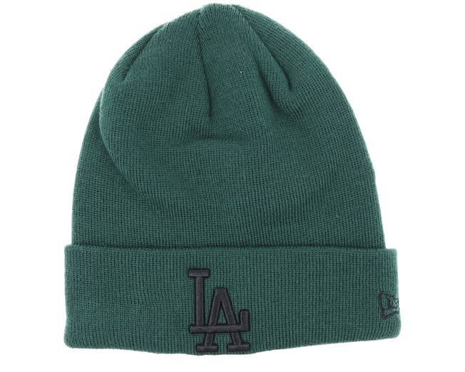 fd2e476aa2e Los Angeles Dodgers League Essential Knit Green Black Cuff - New Era beanies  - Hatstoreworld.com