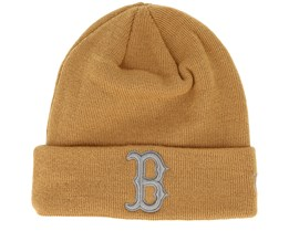 Boston Red Sox League Essential Knit Camel/Grey Cuff - New Era