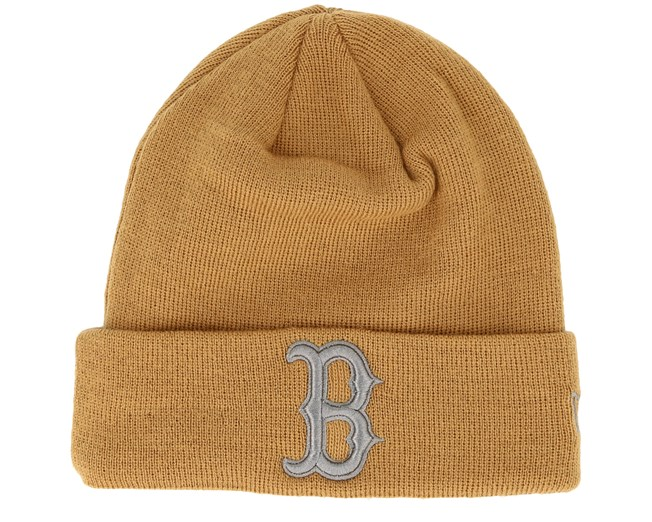 6eec1a753c1 Boston Red Sox League Essential Knit Camel Grey Cuff - New Era beanies -  Hatstoreaustralia.com