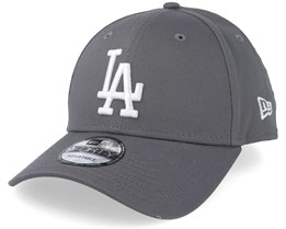 39a8aabcf6502 Los Angeles Dodgers League Essential 9Forty Grey White Adjustable - New Era
