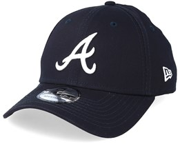 Atlanta Braves League Essential 9Forty Navy/White Adjustable - New Era