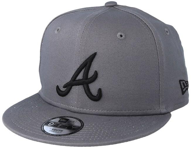 36046dff0ca Kids Atlanta Braves League Essential 9Fifty Stone Black Snapback - New Era  caps - Hatstoreworld.com