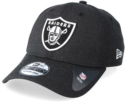 Oakland Raiders 39Thirty Essential Heather Black Flexfit - New Era