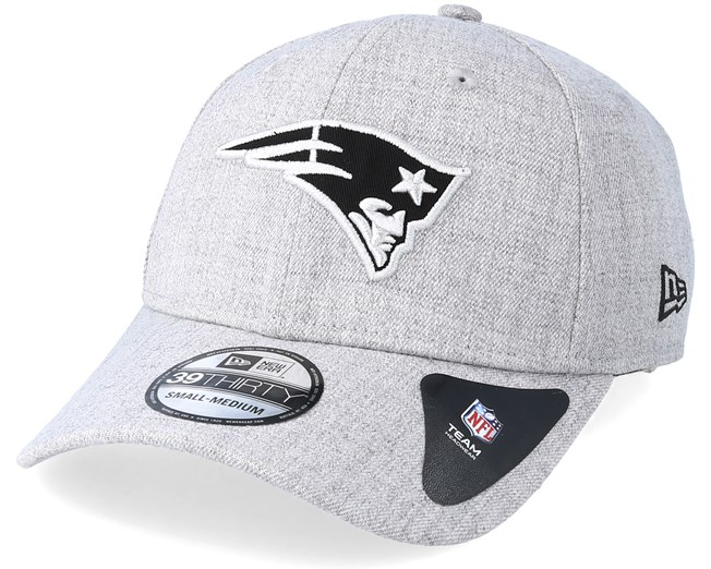 fdd559a36 New England Patriots 39Thirty Essential Heather Grey Flexfit - New Era caps  - Hatstoreworld.com