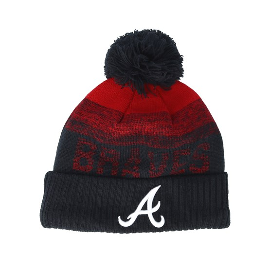 e7ed348e3ce1a Atlanta Braves Sport Knit 2 Red/Navy Pom - New Era beanies -  Hatstoreworld.com