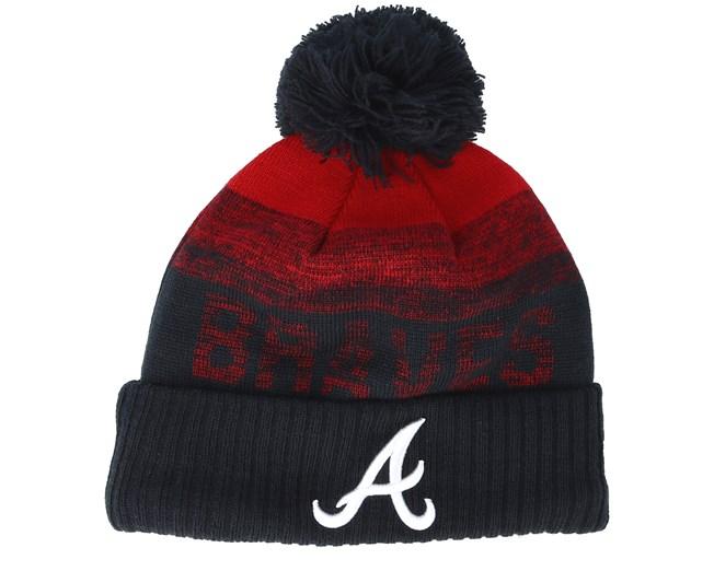 d745a87834a Atlanta Braves Sport Knit 2 Red Navy Pom - New Era beanies -  Hatstoreworld.com