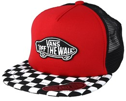 Kids Classic Patch Racing Red Trucker - Vans