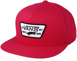 Full Patch Jazzy Red Snapback - Vans