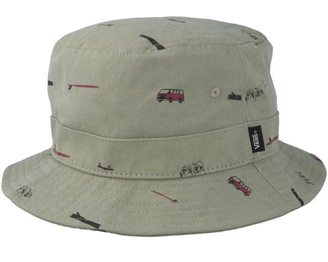 Undertone Oil Green Bucket - Vans hats  c62ef538d0e