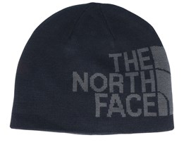 Reversible TNF Banner Black/Asphalt Grey Traditional Beanie - The North Face