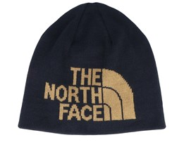 Highline Reversible Black/British Khaki Traditional Beanie - The North Face