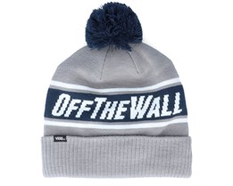 Off The Wall Heather Grey/Dress Blues Pom - Vans