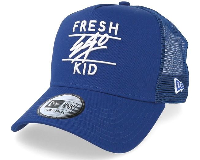 A Frame Mesh Blue Trucker - Fresh Ego Kid lippis - Hatstore.fi ca6175e338