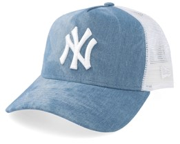 New York Yankees Women Tie Dye A-Frame Blue/White Trucker - New Era