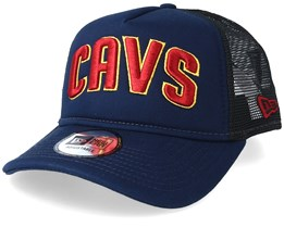 Cleveland Cavaliers Team Block Navy Trucker - New Era