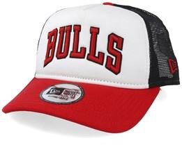 Chicago Bulls Team Block White/Red Trucker - New Era