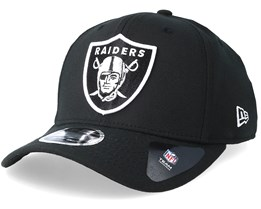 10de9edd5613d Oakland Raiders Stretch Snap 9Fifty Black White Snapback- New Era