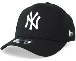 92fa2bfebc9 New York Yankees Stretch Snap 9Fifty Black White Snapback- New Era