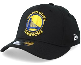 5c3ade6485e Golden State Warrior Stretch Snap 9Fifty Black Gold Blue Snapback- New Era