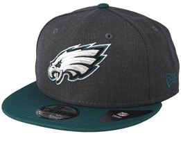 Philadelphia Eagles Heather 9Fifty Dark Grey/Green Snapback - New Era