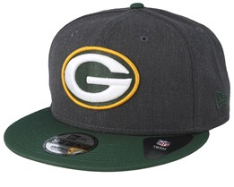Green Bay Packers Heather 9Fifty Dark Grey/Green Snapback - New Era
