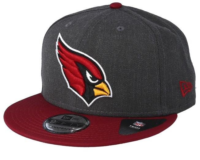 15581e6d9 Arizona Cardinals Heather 9Fifty Dark Grey/Burgundy Snapback - New ...