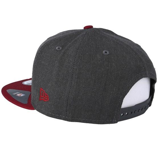 1952716e3 Arizona Cardinals Heather 9Fifty Dark Grey/Burgundy Snapback - New Era