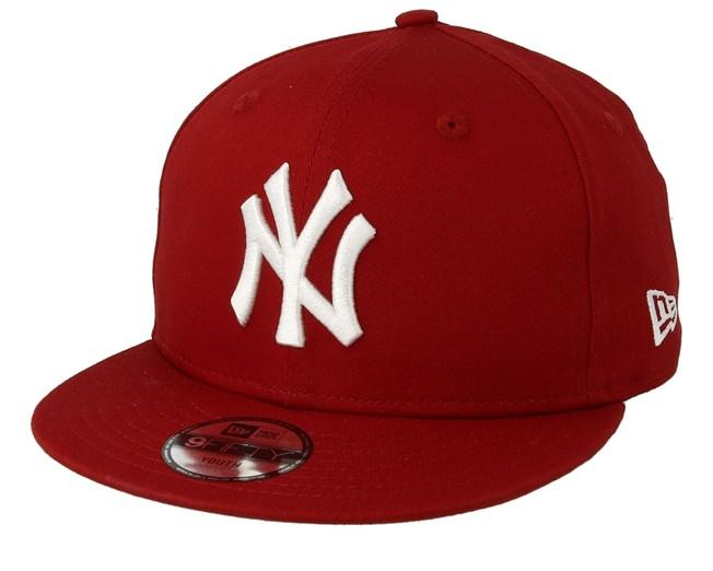 359a37b5ecb Kids New York Yankees League Essential 9Fifty Red White Snapback - New Era  cap - Hatstore.co.in