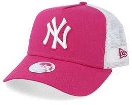 New York Yankees Women League Essential Pink/White Trucker - New Era