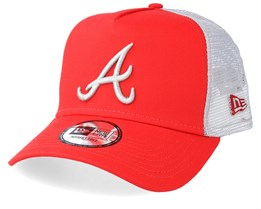 Atlanta Braves League Essential Red/White Trucker - New Era