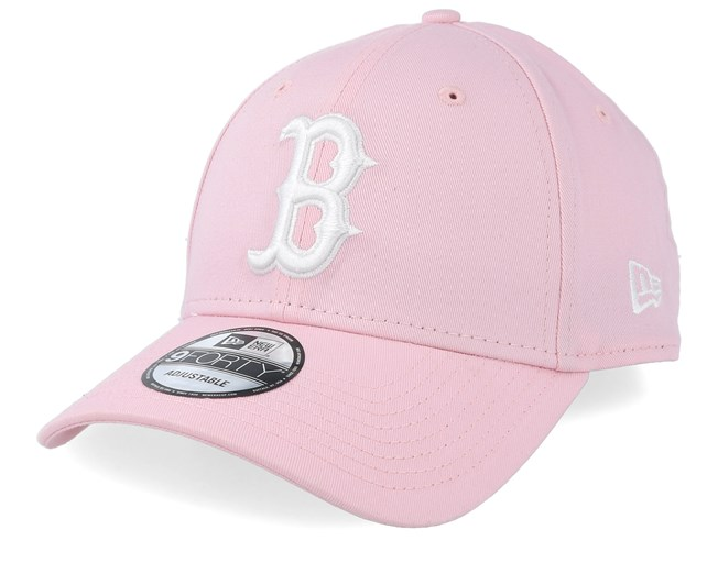 605113106 Boston Red Sox League Essential 9Forty Pink/White Adjustable - New ...