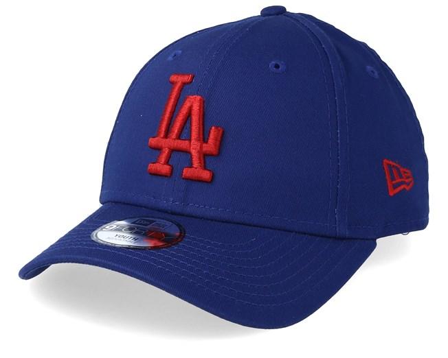 830bad1a1b44ff Kids Los Angeles Dodgers League Essential 9Forty Dark Blue/Red Adjustable - New  Era caps - Hatstoreworld.com