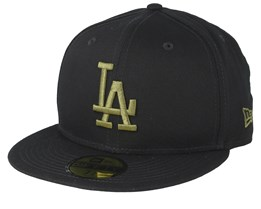 Los Angeles Dodgers League Essential 59Fifty Black/Dark Green Fitted - New Era