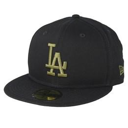 b365d34bc New Era Los Angeles Dodgers League Essential 59Fifty Black/Dark Green  Fitted - New Era $39.99
