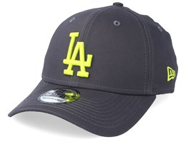 7a9423b6ced10 Los Angeles Dodgers League Essential 39Thirty Dark Grey Neon Flexfit - New  Era