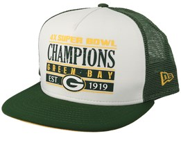 Green Bay Packers Champs PK 9Fifty White/Green Trucker - New Era