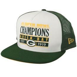 c1498fdcca74f New Era Green Bay Packers Champs PK 9Fifty White Green Trucker - New Era  ₩51