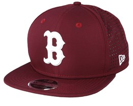 Boston Red Sox Feather Perf 9Fifty Burgundy Snapback - New Era