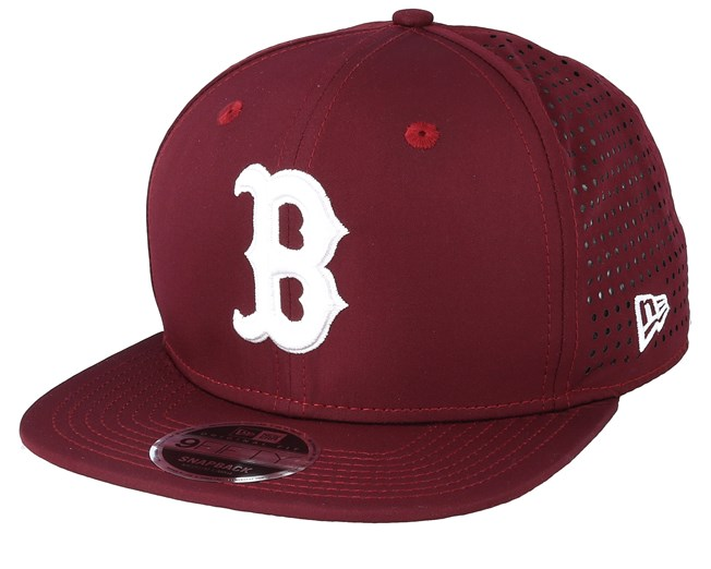 9c1cce18b33941 Boston Red Sox Feather Perf 9Fifty Burgundy Snapback - New Era caps ...