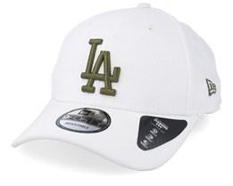 Los Angeles Dodgers Diamond Era 9Forty White/Green Adjustable - New Era