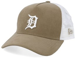 Detroit Tigers Cord Brights Khaki/White Trucker - New Era