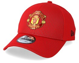 Manchester United Hex Pattern 9Forty Red Adjustable - New Era