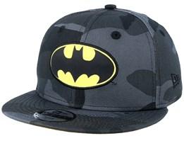 Kids Batman Character 9Fifty Black Camo Snapback - New Era