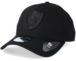 Oakland Raiders 9Forty Black/Black Adjustable - New Era