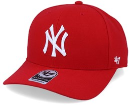 New York Yankees Cold Zone Mvp DP Red/White Adjustable - 47 Brand