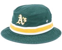 Oakland Athletics Striped Green/Yellow Bucket - 47 Brand
