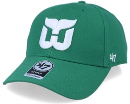 Hartford Whalers Mvp Vintage Kelly Green/White Adjustable - 47 Brand