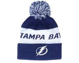 Tampa Bay Lightning Cukture Cuffed Knit Navy Pom - Adidas